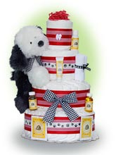 Lil Buddy 4 Tier Diaper Cake