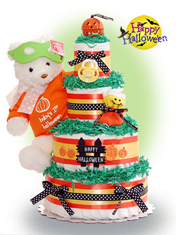 Our Lil' Pumpkin 4 Tier Diaper Cake