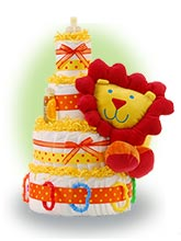 Lil Lion 4 Tier Diaper Cake