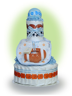 Sports Theme Limited Edition Diaper Cake