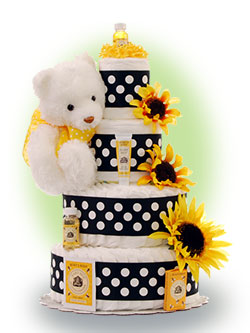 Sun-Kissed 4 Tier Diaper Cake