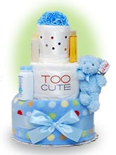 Too Cute Boy Diaper Cake